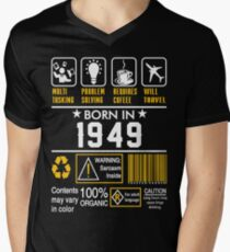 Birthday Gift Ideas - Born In 1949 V-Neck T-Shirt