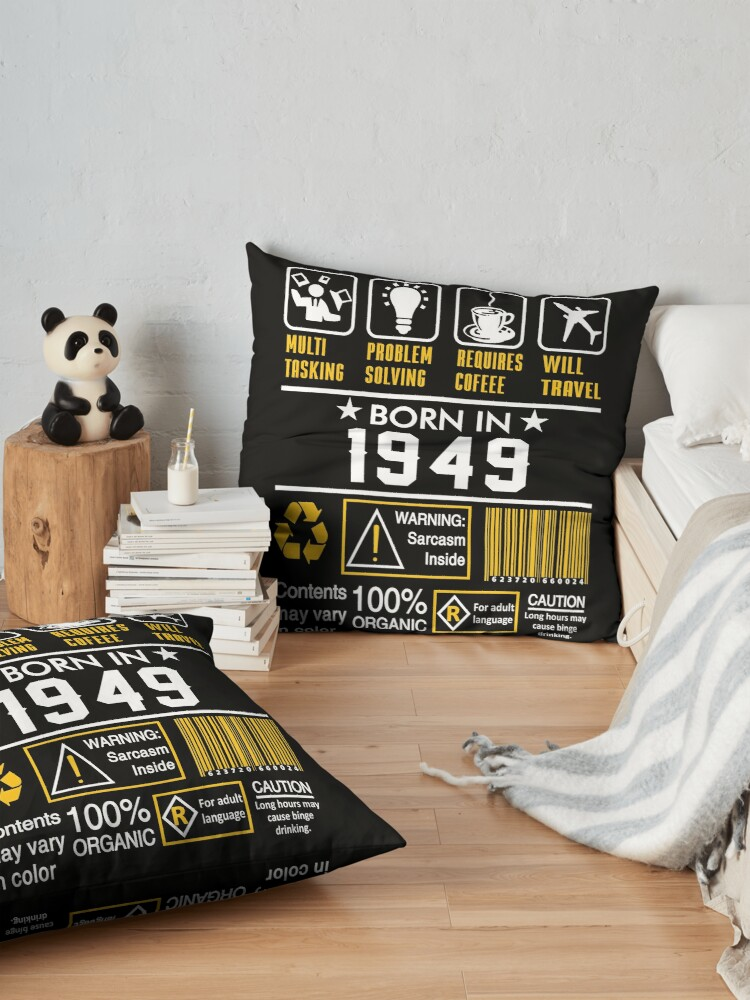 Alternate view of Birthday Gift Ideas - Born In 1949 Floor Pillow