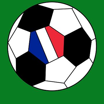 French Soccer Ball - French Football - French Flag by Natalia-Art