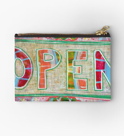 Open for Energetic Shifting (uncropped): Inner Power Painting Studio Pouch