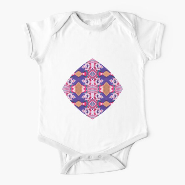 Figure, picture, illustration, structure, framework, composition, frame, texture Short Sleeve Baby One-Piece
