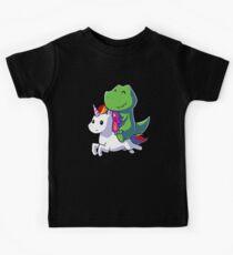 Dinosaur riding Unicorn tshirt - Funny Unicorn Shirt for girls - Gifts for Kids Kids Tee