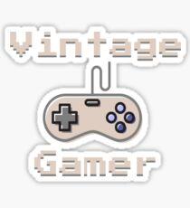 Vintage Gamer Design Sticker