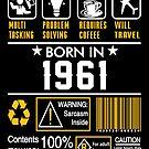 Birthday Gift Ideas - Born In 1961 by wantneedlove