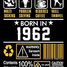 Birthday Gift Ideas - Born In 1962 by wantneedlove