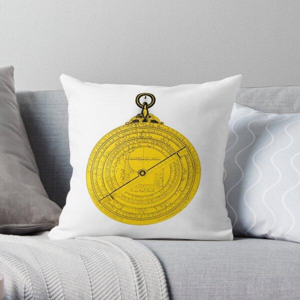 Astrolabe, 15th Century Throw Pillow