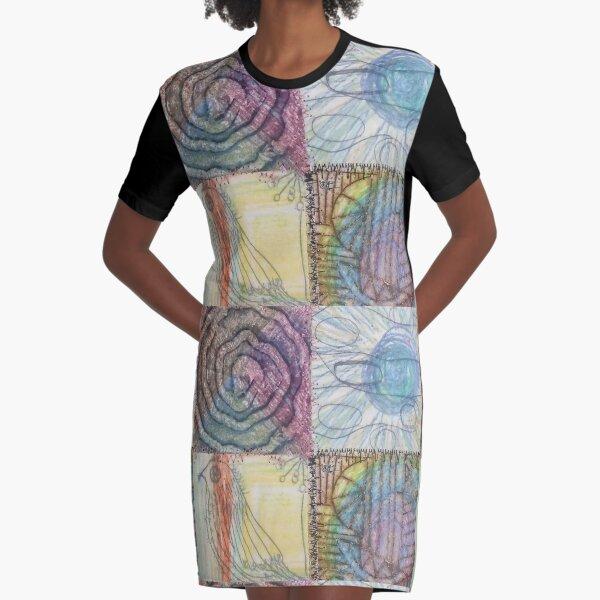 An Avian Haven Graphic T-Shirt Dress