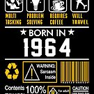 Birthday Gift Ideas - Born In 1964 by wantneedlove