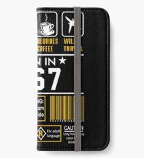 Birthday Gift Ideas - Born In 1967 iPhone Wallet/Case/Skin
