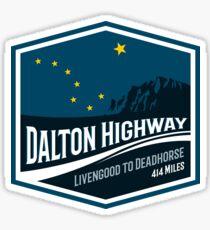 The Dalton Highway - Alaska - T-Shirt & Sticker Design Sticker
