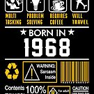 Birthday Gift Ideas - Born In 1968 by wantneedlove