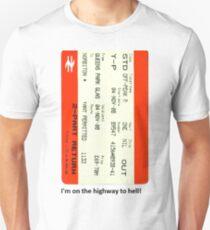 Glasgow train ticket ACDC Unisex T-Shirt