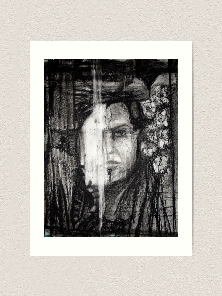 Alternate view of self portrait as sung by morrison Art Print