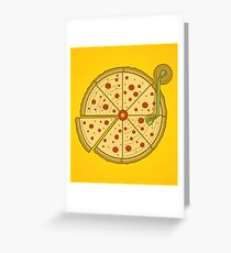 Pizza Vinyl Greeting Card