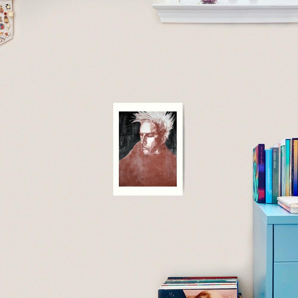 self portrait as sung by joplin Art Print