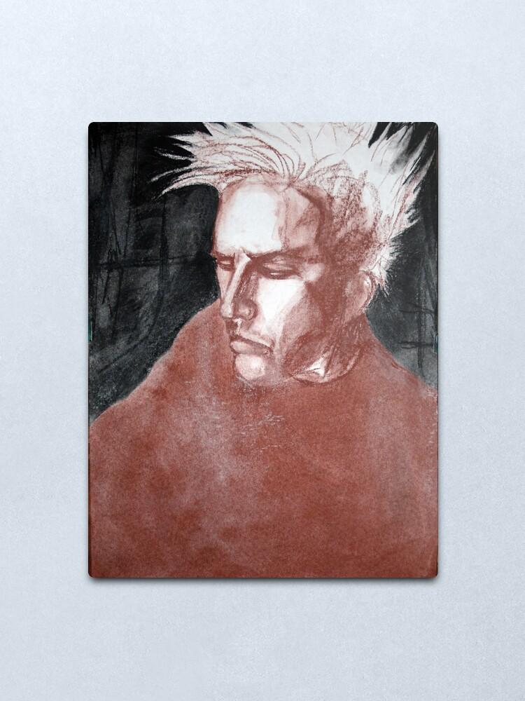 Alternate view of self portrait as sung by joplin Metal Print