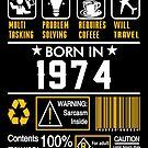 Birthday Gift Ideas - Born In 1974 by wantneedlove
