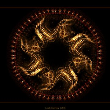 """Mayan Sun""  - Fractal Art  by LeahMcNeir"