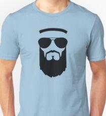 beard muslim face head sunglasses Unisex T-Shirt