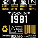 Birthday Gift Ideas - Born In 1981 by wantneedlove