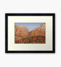 Zion National Park Scenic View Framed Print