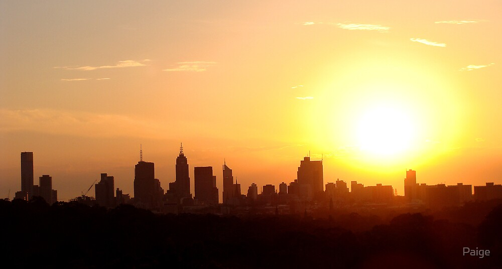 Sunset over Melbourne 2 by Paige