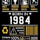 Birthday Gift Ideas - Born In 1984 by wantneedlove