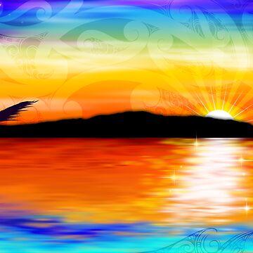 Kapiti Island Sunset by Winus
