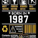 Birthday Gift Ideas - Born In 1987 by wantneedlove