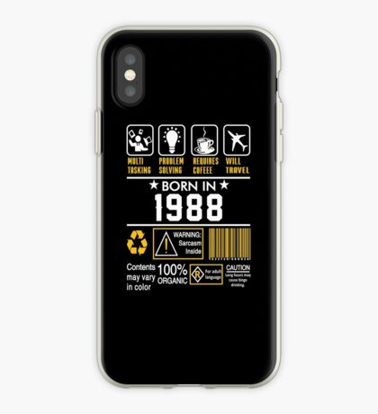 Birthday Gift Ideas - Born In 1988 iPhone Case