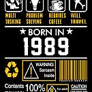 Birthday Gift Ideas - Born In 1989 by wantneedlove