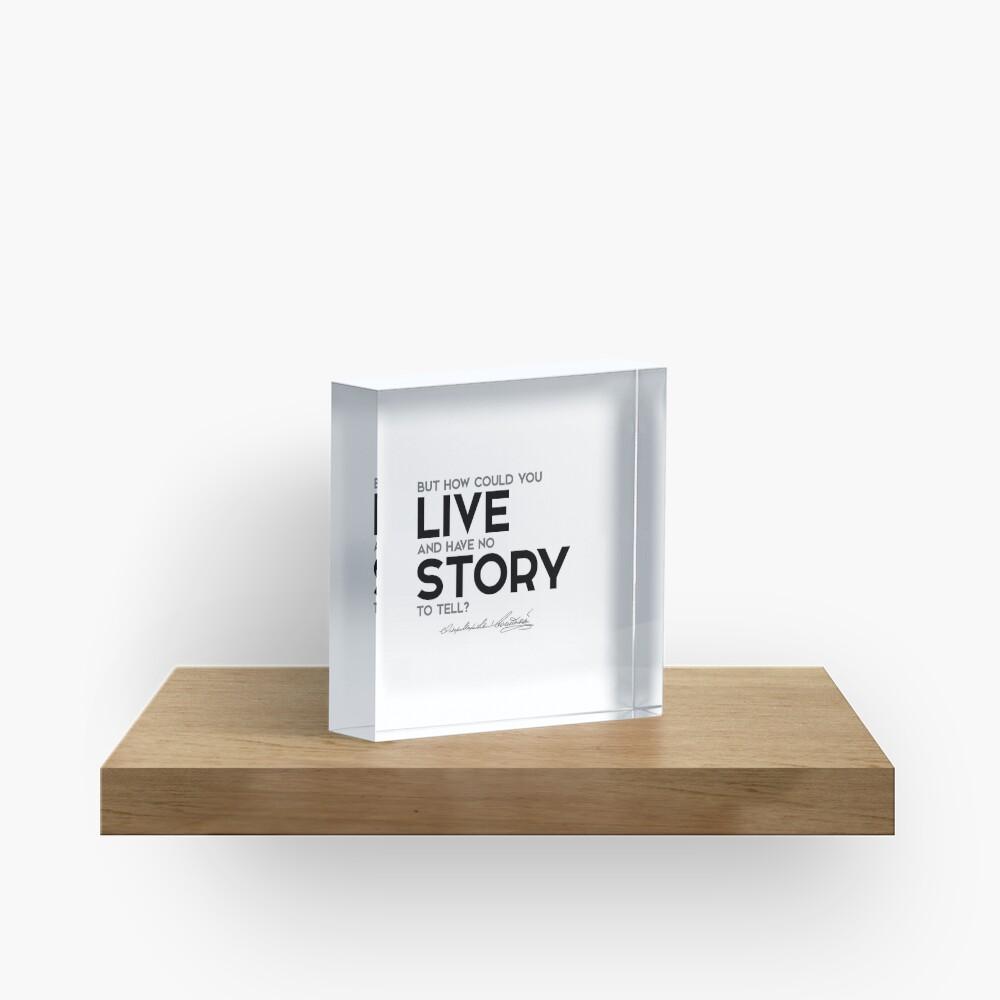 story to tell - fyodor dostoevsky Acrylic Block