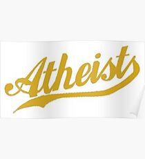 Sport Team Atheist Atheisten Anti-Religion Anti-Religiös Poster