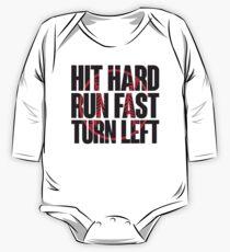 Hart schlagen, schnell rennen, links abbiegen Baby Body Langarm