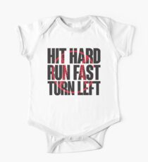 Hit hard, run fast, turn left Kids Clothes