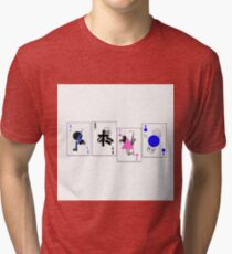 Through The Eras Playing Cards Tri-blend T-Shirt