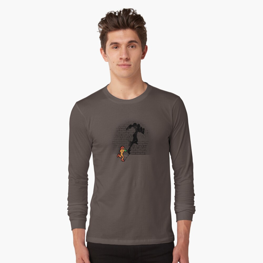 Becoming a Legend- Samus Aran Long Sleeve T-Shirt Front