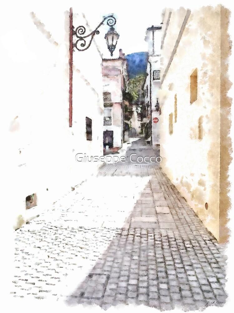 San Felice Circeo street by Giuseppe Cocco