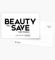 Beauty Save The World Quotes Postcards Redbubble