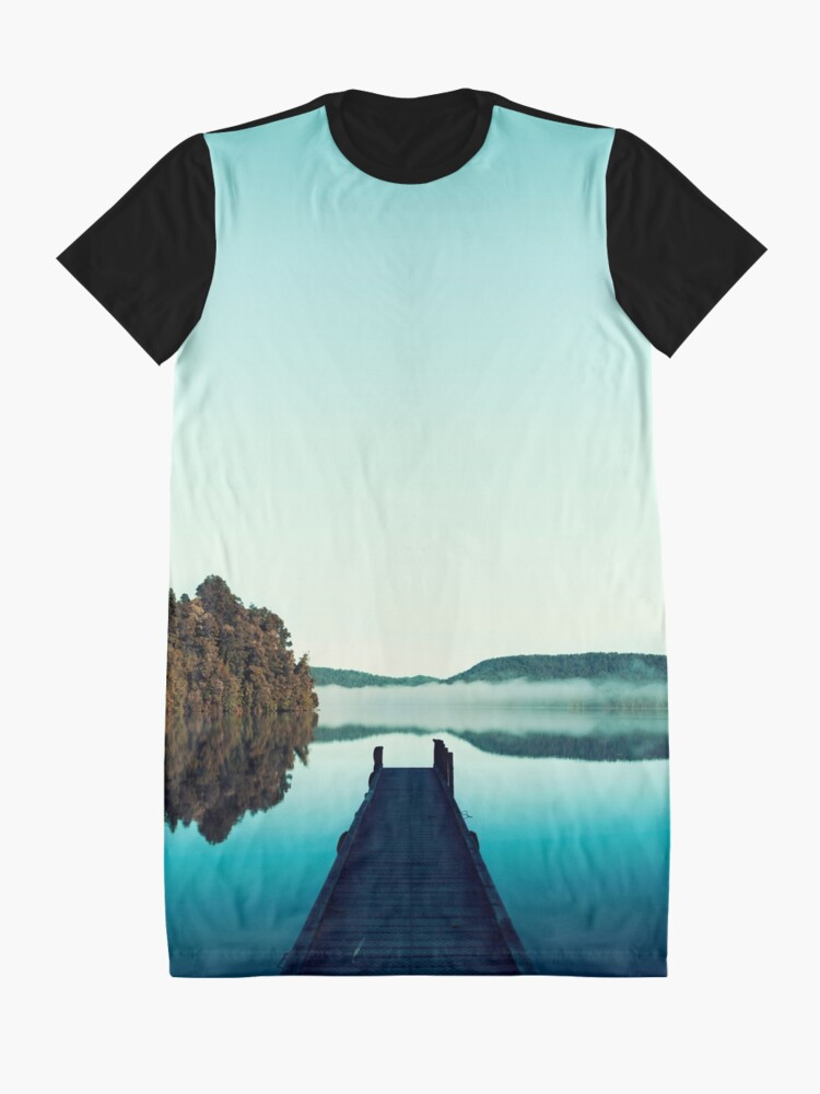 Alternative Ansicht von Düsteres Dock T-Shirt Kleid
