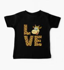 Love Giraffe TShirt For Giraffe Print Lovers Baby Tee