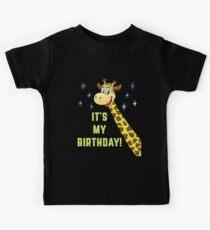 Giraffe T-Shirt It's My Birthday Kids Tee
