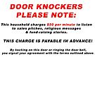 Door Knocker Alert by BWBConcepts