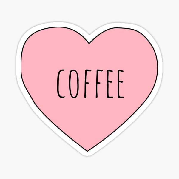 I Love Coffee Sticker