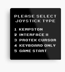 80s Gaming Joystick Select Metal Print