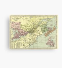 Vintage Map Of Canada 1920s (1) Canvas Print