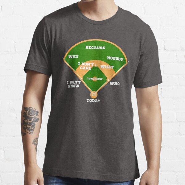 Who's on First? Baseball Diamond Fielding Card Essential T-Shirt