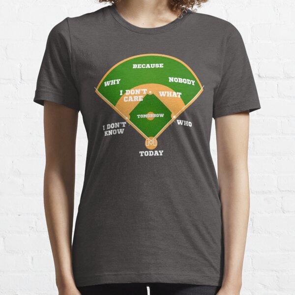 Qui est le premier? Carte de baseball de baseball T-shirt essentiel