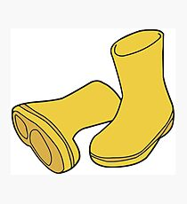 Yellow Rain Boots Photographic Print
