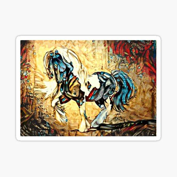Gypsy Vanner Horse Illustration Sticker